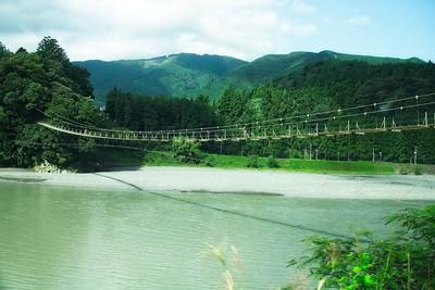 Oigawa Railway Shiogo no Tsuribashi Suspension Bridge