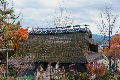 Thatched Roof Building at the open air museum Iyashi no Sato