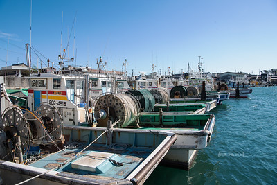 Fishing boats in Hamamatsu, Japan