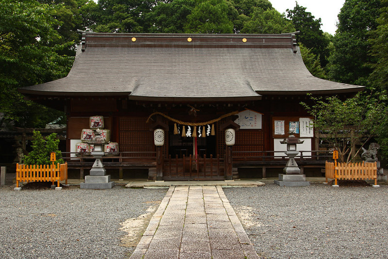 Main building of Tsugawa Shrine, Kishiwada, Japan