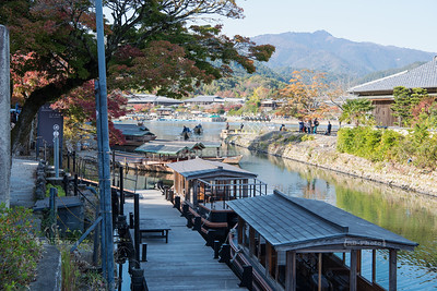 Punt boats in Arashiyama, Kyoto