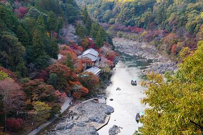 Hozu River Valley near Arashiyama, Kyoto