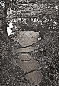 Okura Garden pond stones