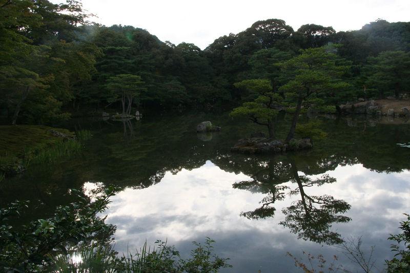 Reflection of the surroundings of Kinkaku Ji (Golden Temple)