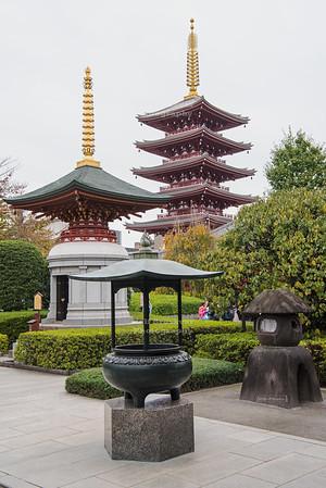 Pagoda at Senso-Ji Temple, Tokyo