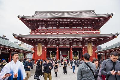 Hōzōmon Gate at Sensō-ji Temple Tokyo