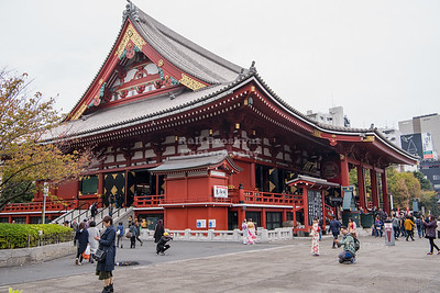 Main Hall at the Senso-Ji Temple