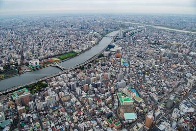 View over Tokyo's Sunmida Ward