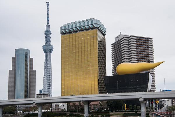 Asakusa Skyline on an Overcast Day
