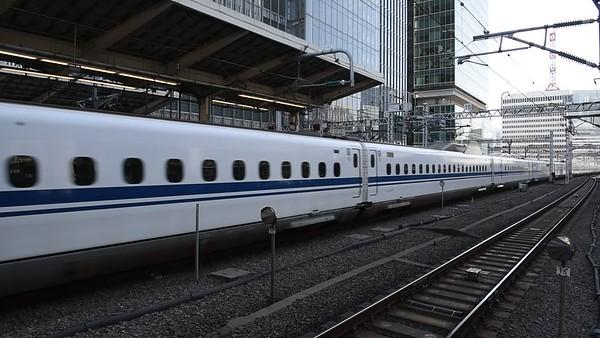 Shinkansen N700 Bullet Train leaving Tokyo Station