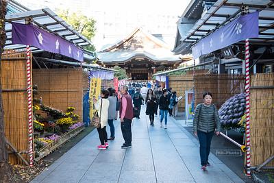Yushima Tenman-gū temple in Tokyo, Japan
