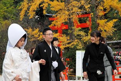 kyoto autumn shrine