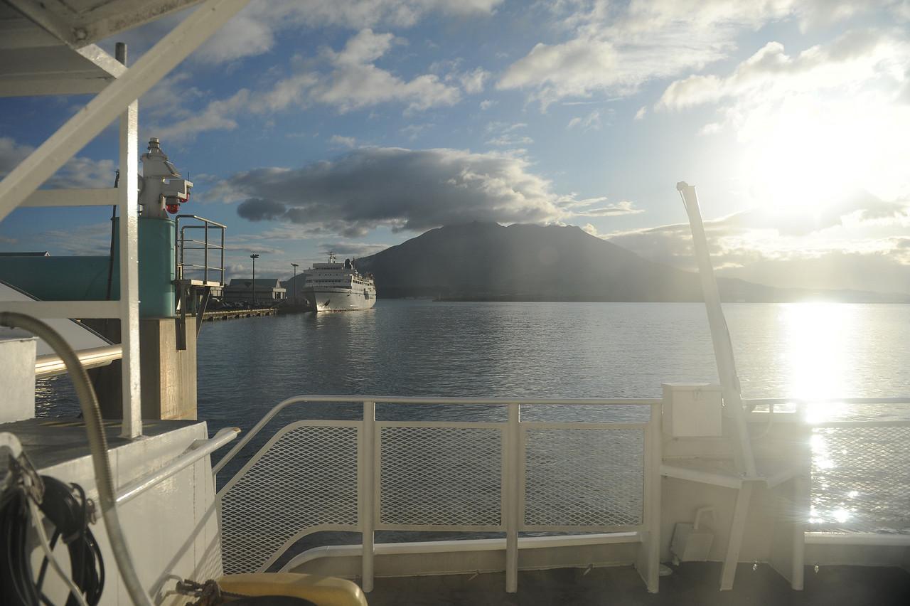 On the ferry to Yakushima.