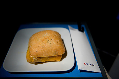 Mid-flight snack. Better than the June trip, not as good as the 2008 trip.