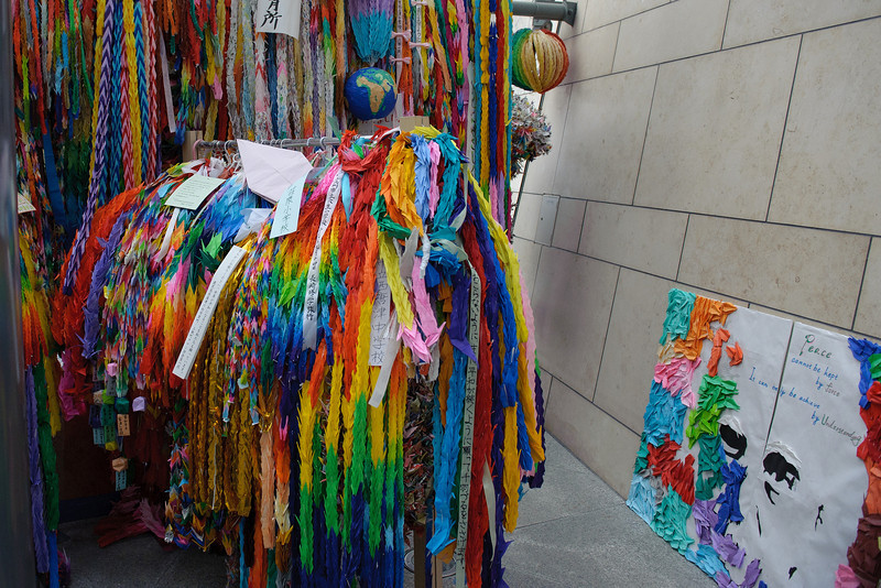 I'm not sure if these colorful strands are for sale, but they were plentiful both here and in Hiroshima.