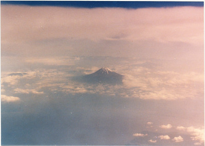 Departing from Japan gave me my first viewing of Mt. Fuji. 18 trips later I haven't yet taken a better image!
