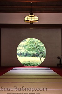 Japanese Round Temple Door