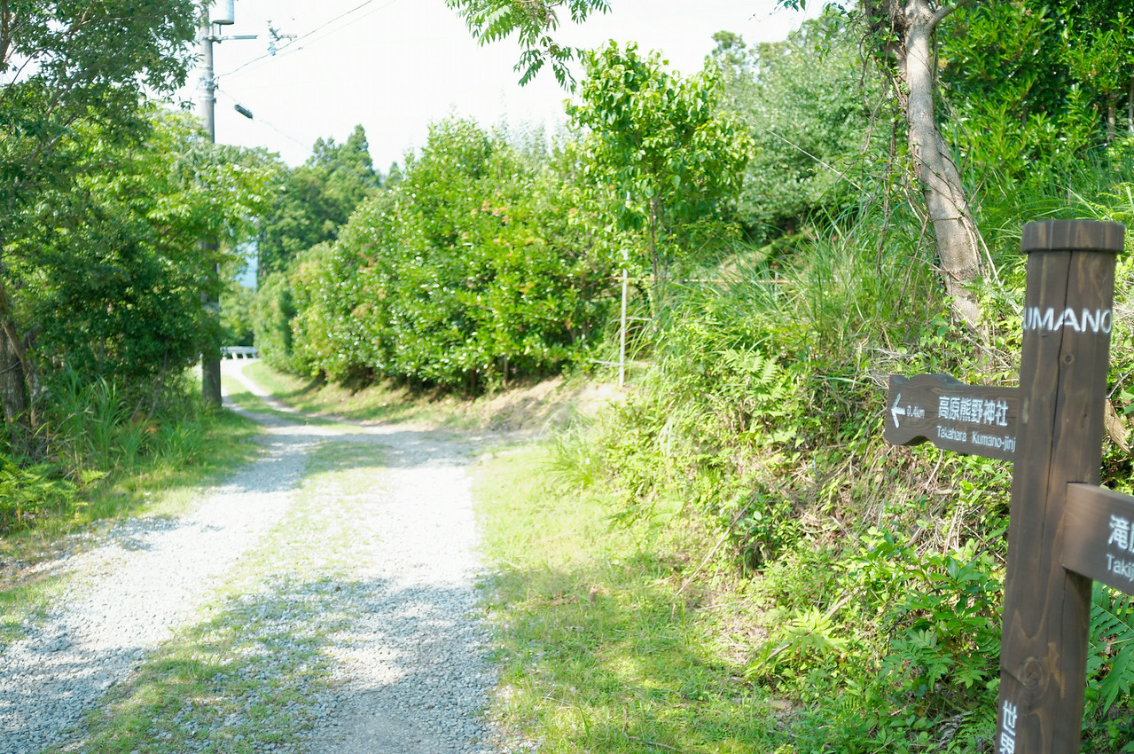 The trail ends up on a small country gravel road.