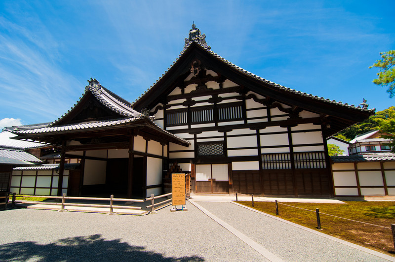 Pavilions in Kyoto that are part of the same temple complex as the Golden Pavilion.