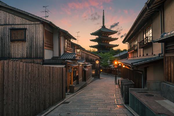 Yasaka Pagoda Sunset