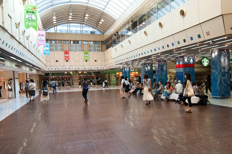 Most train stations in Tokyo are the centers of commerce and usually have major malls and department stores attached or in their basements.  This is one area, of one of the two malls, attached to Kyoto station.