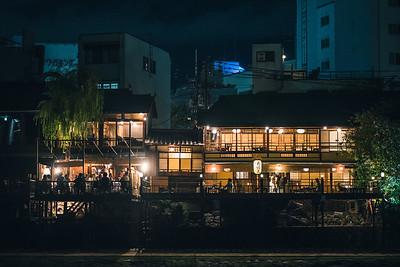 A Kyoto Riverside Restaurant