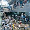 The interior of the main atrium of the Kyoto train station.