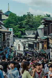 Crowds of Narita Gion Matsuri
