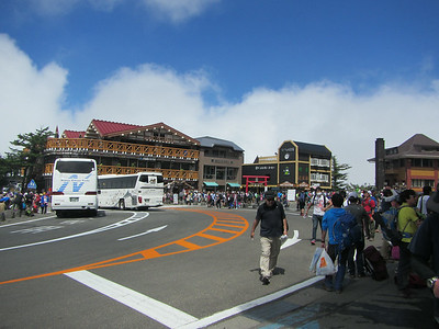 Mt Fuji 5th Station was crazy busy.  Tourist central.
