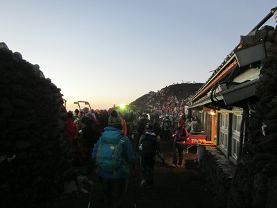 Cold but crowded summit.