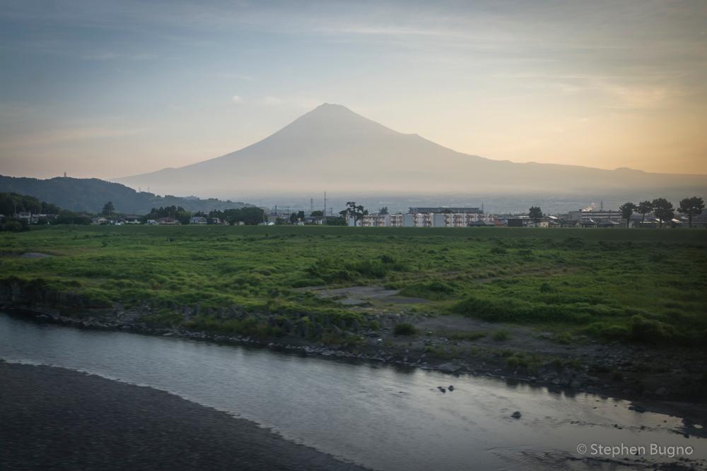 Mt Fuji from the train