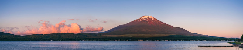 Sunrise Panorama On Lake Yamanakako