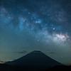 Milky Way Rising Over Mt Fuji