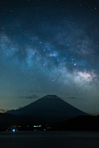 Milky Way Rising Over Mt Fuji