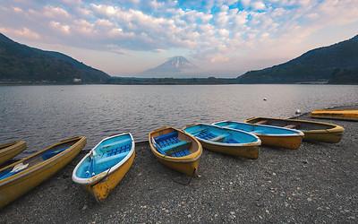 Boats On Lake Shoji