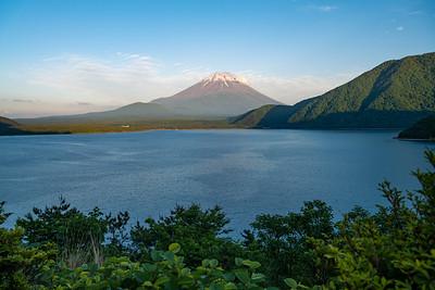 Mt Fuji and Lake Motosuko