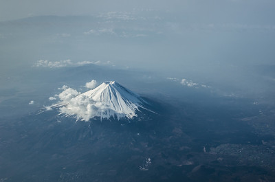 Mt Fuji In The Haze