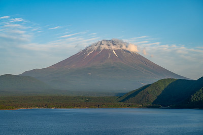 Cloud Topped Fuji On Motosuko
