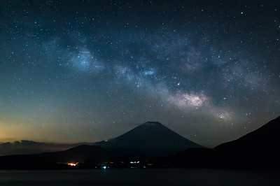 The Milky Way Draped Over Fuji