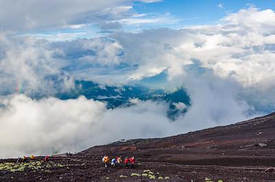 Hiking Up Mt Fuji