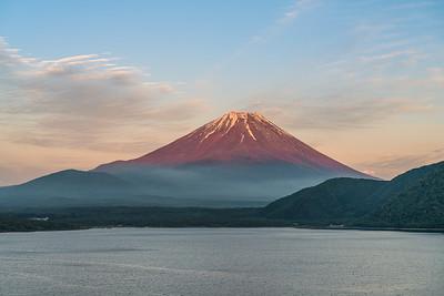 Akafuji (Red Fuji) On Lake Motosuko