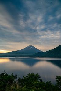 Dramatic Clouds Over Mt Fuji