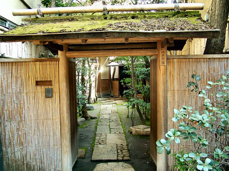 """Nezu is an old section of Tokyo near Ueno Park.  While I was walking around, I found this old tea house.  The name of the tea house is Edo Senke.  You can see more at  <a href=""""http://www.edosenke.jp"""">http://www.edosenke.jp</a>."""