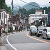 The main street in Nikko.  Walking down this street gets you to the shrines.