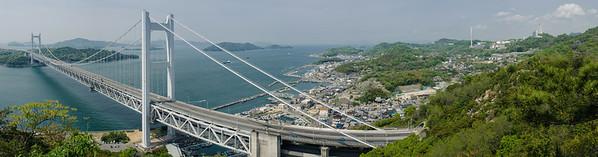 Panorama of Shimotsui and Seto Ohashi Bridge