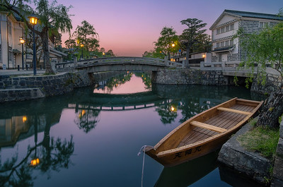 Colors of Dusk In The Kurashiki Bikan Historical District