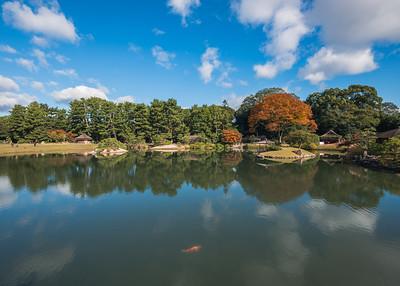 Autumn Reflections In Okayama Korakuen