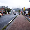 The busy main street in Shimoda.  Shimoda is a hot springs / beach town so it's pretty dead on a Thursday afternoon.  They do have a gorgeous mountain backdrop for the town.