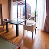 The sitting area of our Japanese-style room in Shimoda at the Shimoda Yamatokan.
