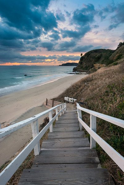 Pacific Coast Beach Sunrise